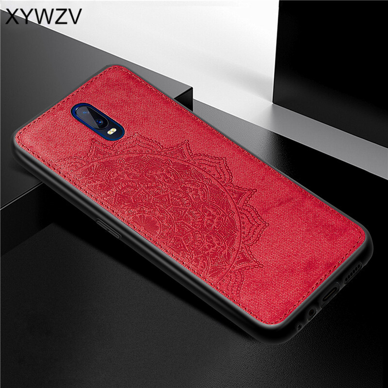 Image 2 - For OPPO R17 Case Shockproof Cover Soft Rubber Silicone Luxury Cloth Texture Phone Case For OPPO R17 Cover For OPPO R17 6.4 inch-in Fitted Cases from Cellphones & Telecommunications
