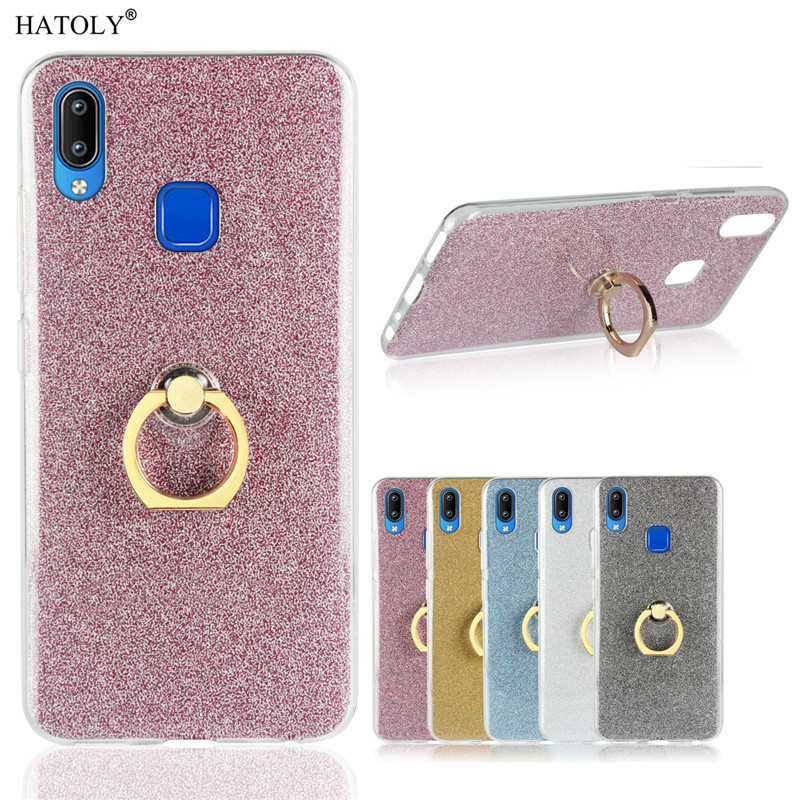 Vivo Y91 Case Shiny Glitter Bling Silicon Phone Case Cover
