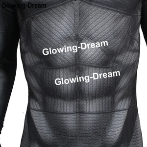 Image 5 - Glowing Dream High Quality Relif Muscle Padding Batman Suit Embossed Muscle Batman Cosplay Costume With Logo For Men