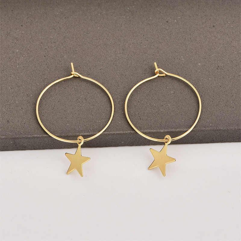 แฟชั่นการพูดเกินจริง Pentagram ต่างหูต่างหู Hoop ต่างหูหู Studs สำหรับผู้หญิงหญิง