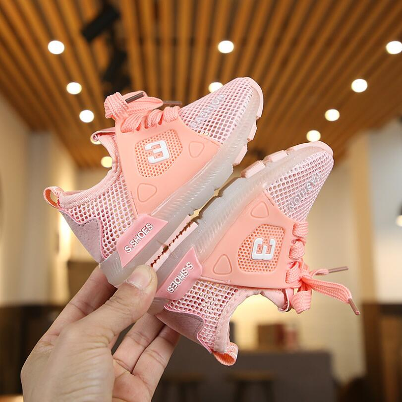 Spring Children Led Girls Sports Baby Luminous Shoes Boys Glowing Kids Sneakers