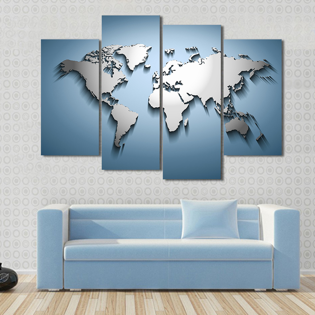 4 pcsset large still life embossed world map canvas print painting 4 pcsset large still life embossed world map canvas print painting modern landscape abstract gumiabroncs Gallery