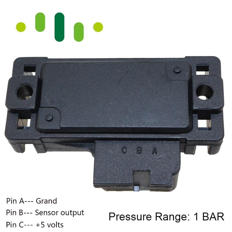 MAP Sensor Intake Air Boost Pressure Manifold Absolute Druck Sender For Opel Corsa Kadett A B CC E 1.2 1.3 1.4 1.6 1.8 i Si GSI 5wk96841 2045431 4bar 4 bar manifold intake air pressure sensor map sensor for renault peugeot 405 kia pride hyundai citroen