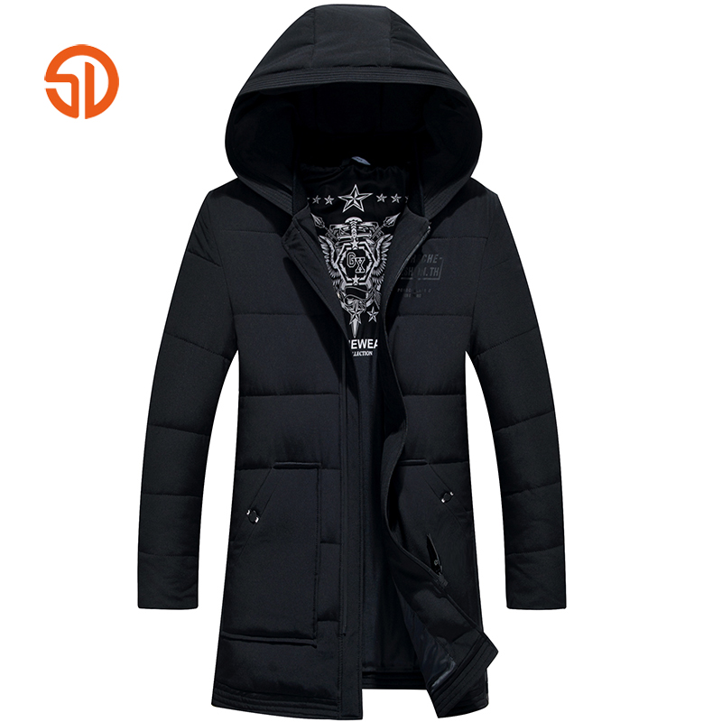 Clothing Mens Winter Jackets Coat Warm Men's Jacket Casual Outerwear Business Medium Long Coat Men Parka Hooded Plus Size XXXL 2016 new long winter jacket men cotton padded jackets mens winter coat men plus size xxxl