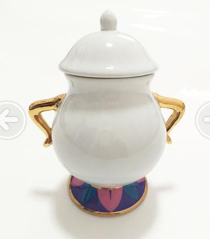 Vente chaude Beauté et La Bête Sucre Bol Pot Geniune En Céramique Café Verres De Bande Dessinée de Noël Cadeau Drop Shipping Rapide Post