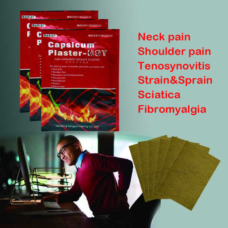96 Pcs/12 Zakken Capsicum Gips Hot Spiervermoeidheid Nekpijn Rugpijn Schouder Gewrichtspijn Patch Body Massager