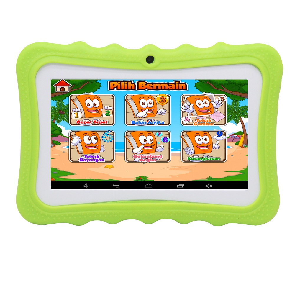 7 Inch Kids Tablet Android 4.4 Quad Core 512MB+8GB Bluetooth WIFI Colorful Crash Proof Children's Learning Education Machine