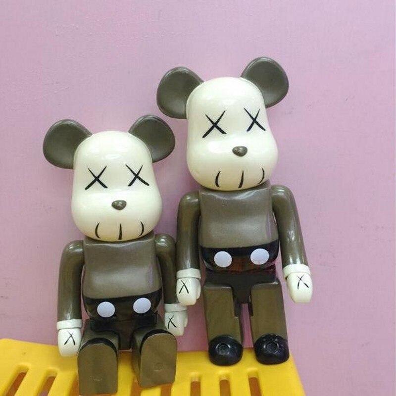 ФОТО 400% Bearbrick High Fashion Plastic Action Figures Cartoon KAWS Model Dolls Brinquedos