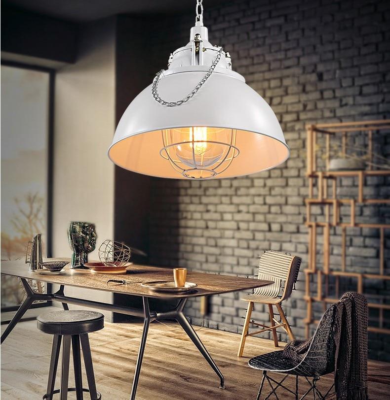 Vintage Industrial Lamp Metal Pendant Light Fixture Retro