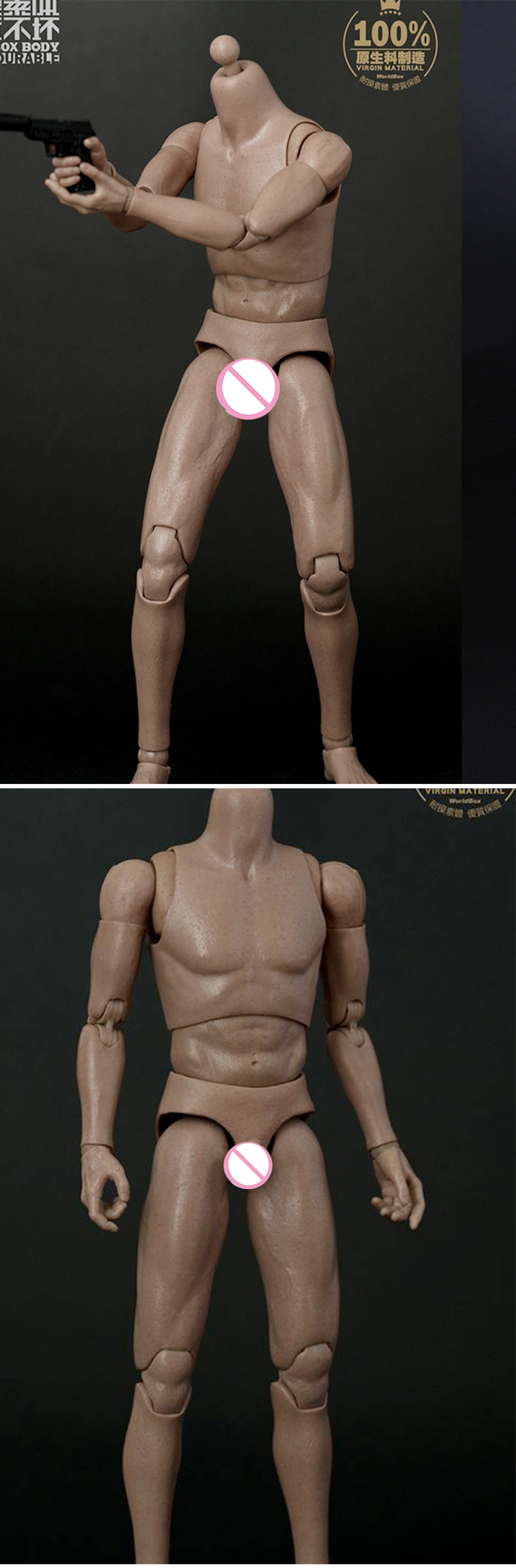 AT025 1//6 Narrow Shoulder Male Figure Body STRONG DURABLE WorldBox SHIP FROM USA