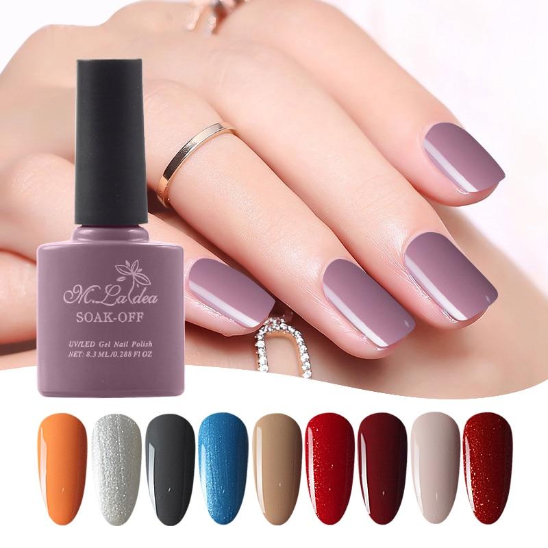 24 pcs#001028 UV nail gel Sapphire Gel M.ladea Gel Polish 8.3ml Color Bottle Soak Off Lasting 140 Brilliant Color