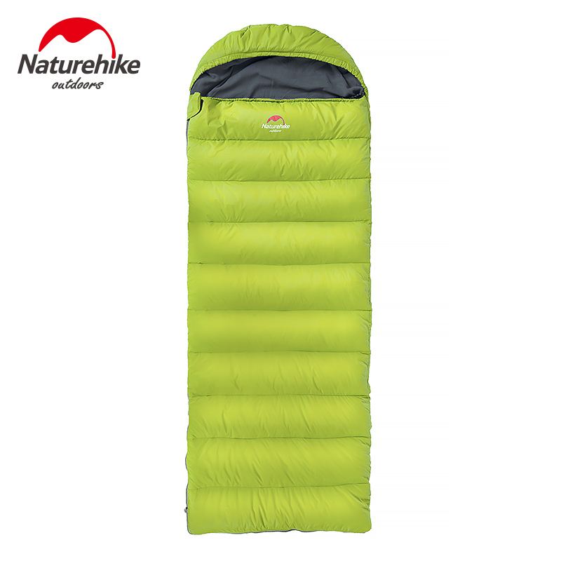 Naturehike Ultralight Outdoor Cold Weather Use Camping Hiking Envelope Winter Down Sleeping Bag color block plaid dress