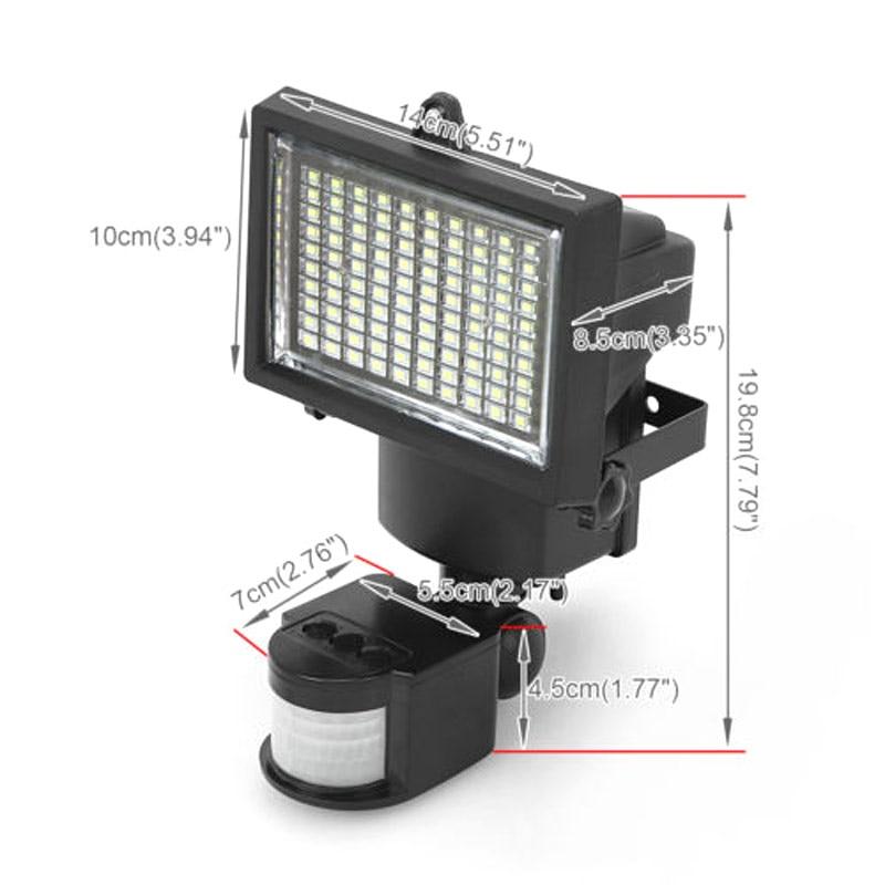 Hərəkət sensoru və günəş paneli olan 100 LED günəş - Xarici işıqlandırma - Fotoqrafiya 3