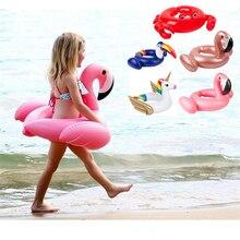 Водные виды спорта Baby Плавание поплавок Плавание ming кольцо ребенка детский надувной фламинго кольцо поплавка сиденья Бассейн Плавание ming кольцо воды игрушка