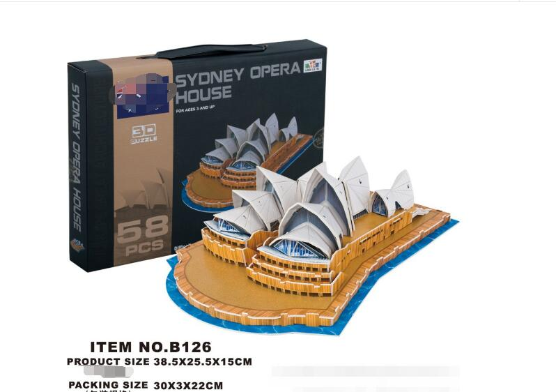Pretend 3d Jigsaw Puzzle B126 Sydney Opera House Paper Model Diy Assembly Toys For Collection Educational Paperboard 3d Puzzle Toys & Hobbies