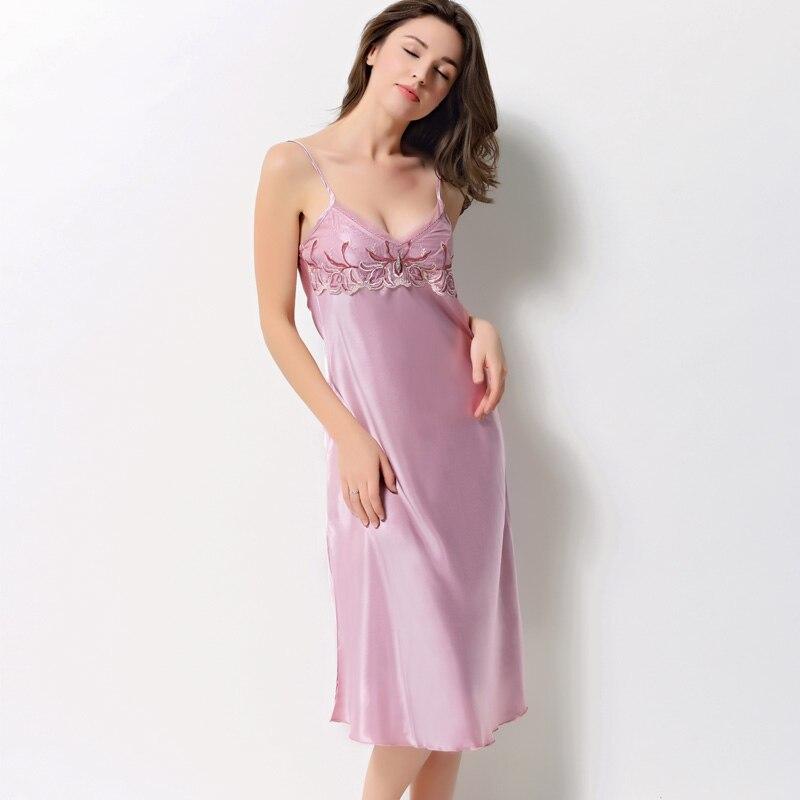Xifenni Robe Sets Female Faux Silk Sleepwear Women SILK Bathrobes Two-Piece Sleeping Dresses Sexy Lace Home Clothing 2703