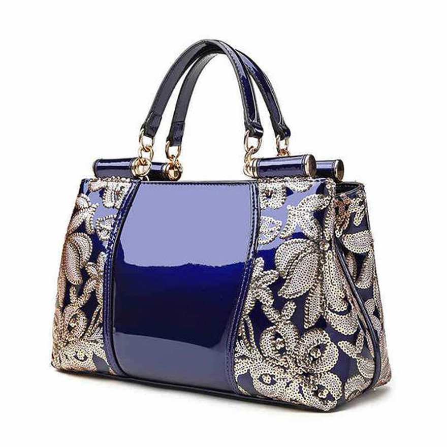 ФОТО TMBOD European and american style fashion women's embroidery floral Split Leather Extravagance handbags for all occasions.y38