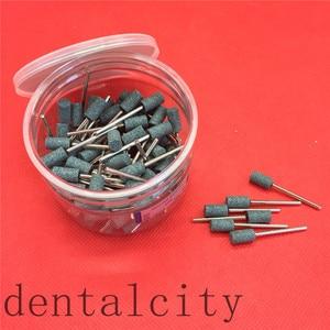 Image 2 - 100 Pcs Cilindro Ghiaia Ceramica di Spessore Montato Point Frese Lucidatore 2.35 Millimetri Dental Strumentazione da Laboratorio