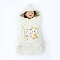 Striped Design Baby Blanket Newborn Baby Swaddle Wrap Soft Winter Baby Bedding Receiving Blanket 0 12M Newborns Prensent