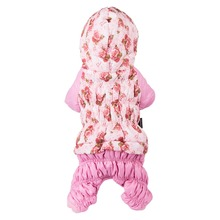 Floral winter Puffy Jacket Coats for female Dogs