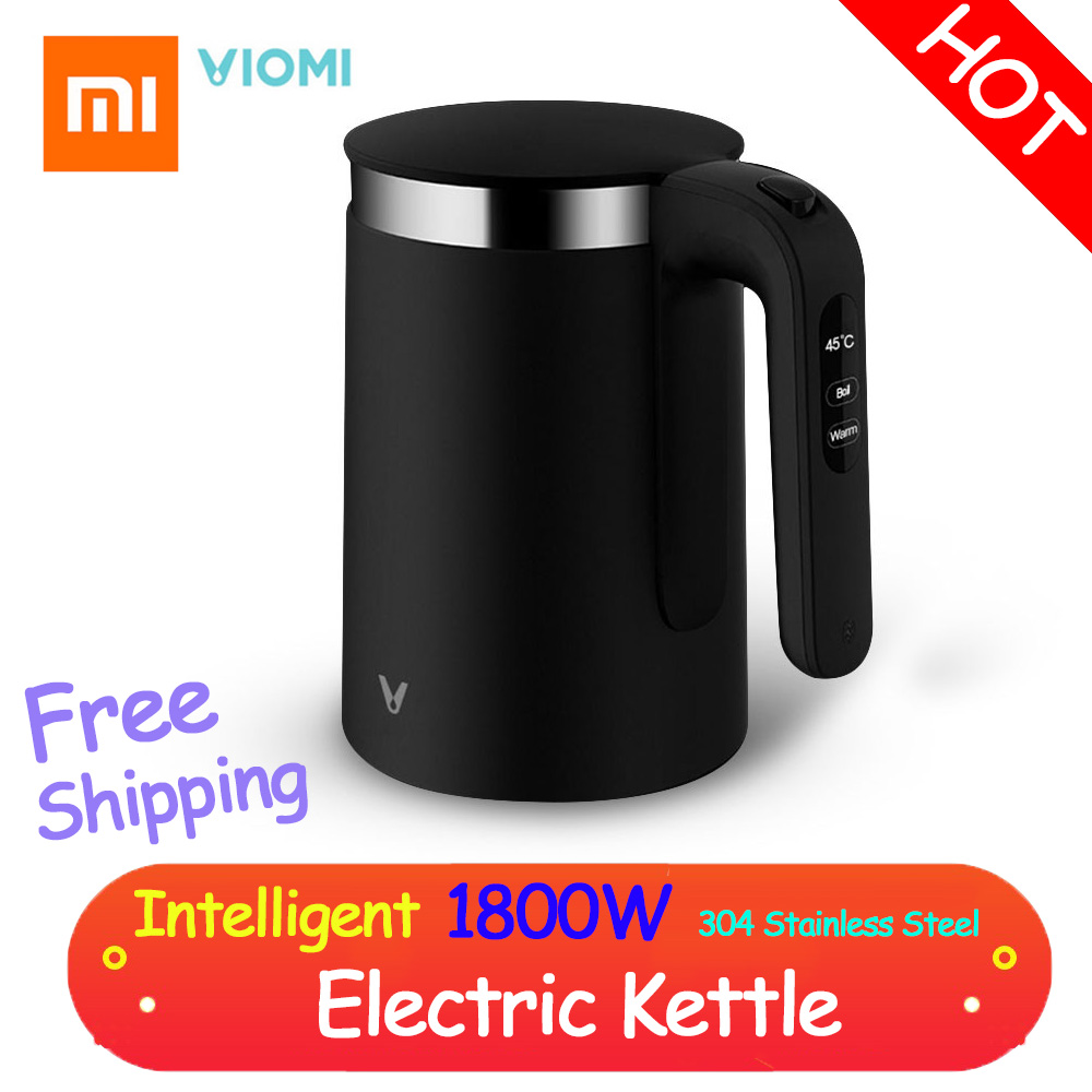 01 VIOMI Pro 1.5L Electric Kettle Intelligent Thermostat Anti-scalding Household 304 Stainless Steel Electric Kettle 1800W