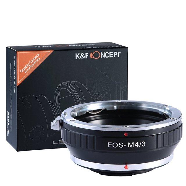 K & f conceito para eos-m4/3 adaptador de lente de montagem para canon eos ef montagem da lente para m4/3 olympus pen e para panasonic lumix mft câmeras