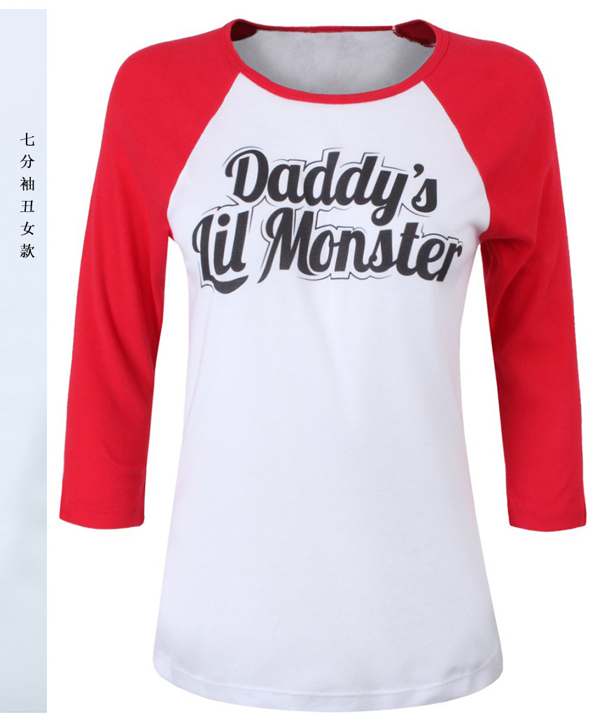HTB1H27wPpXXXXX XVXXq6xXFXXX7 - Batman Suicide Squad Haley Quinn Daddy's Lil Manster T-shirt PTC 129