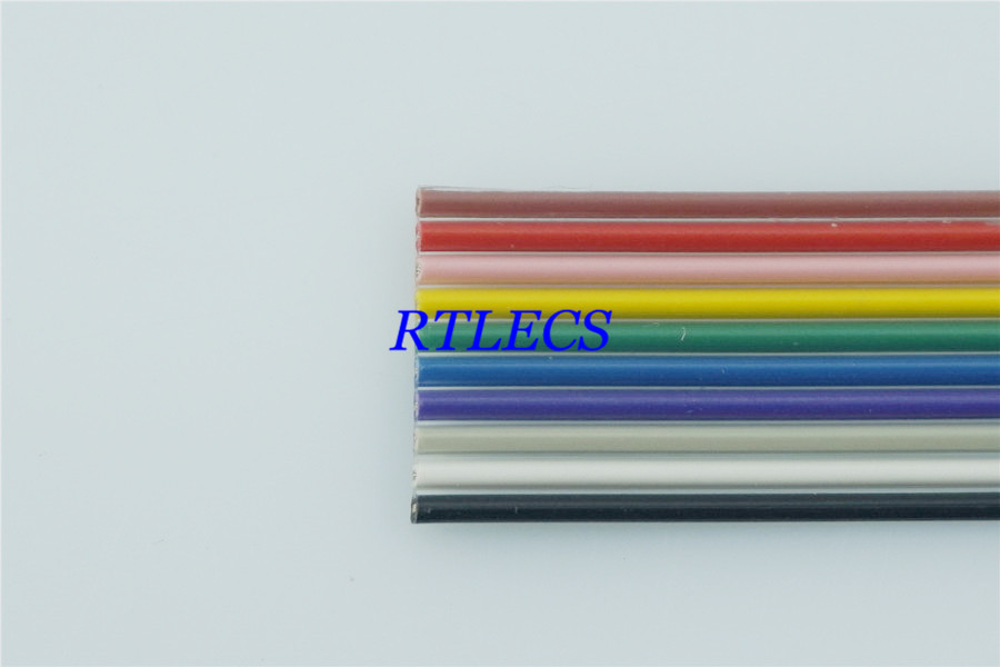 Rainbow Ribbon Cable 4 Conductor : M diy pin mm pitch flat color rainbow ribbon cable