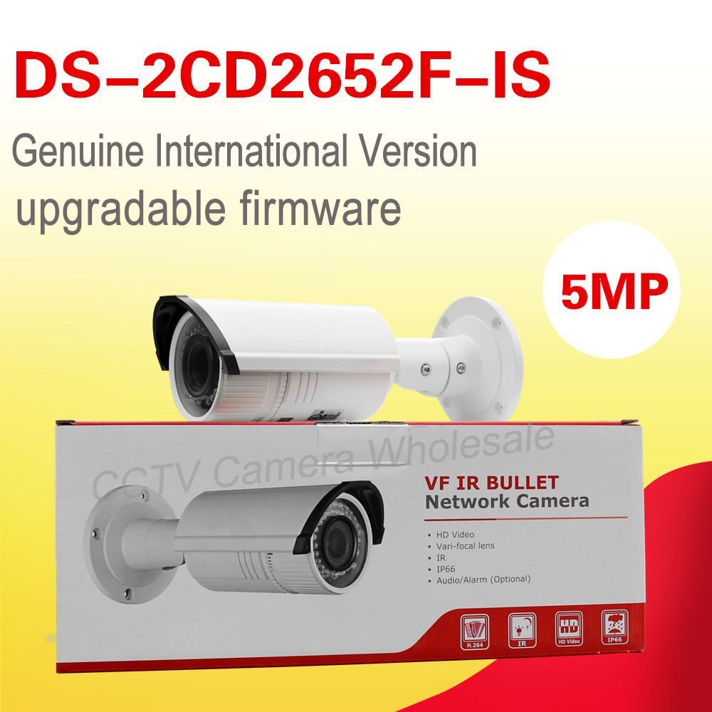 English version DS-2CD2652F-IS 5MP Bullet Network POE CCTV IP Camera vari-focal lens 2.8-12mm 30m IR IP66 audio велосипед двухколесный navigator superman 12 вн12100