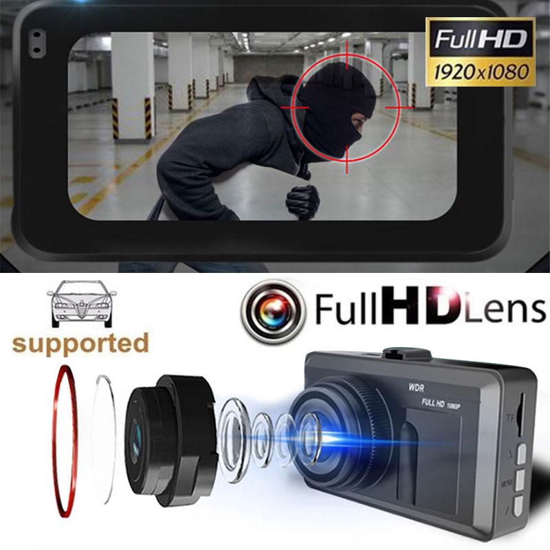 Car Dvr Wide Angle Durable Dash Camera Monitor Video Recorder Universal Automobile