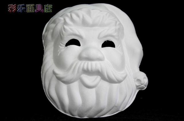 Кричащие призраки DIY пустые Вечерние Маски белая бумажная целлюлоза окружающей среды Изобразительное искусство живопись программы Маскарад полное лицо маски 10 шт - Цвет: Santa Claus