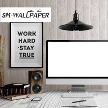 European Style Wallpaper Vintage Wood Grain Wall Paper for font b Tea b font House Hotel