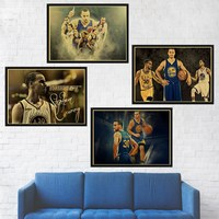 Wall Art Painting Stephen Curry Kristaps Porzingis Dunks Basketball Star Prints Poster Sports Pictures Wall Decor