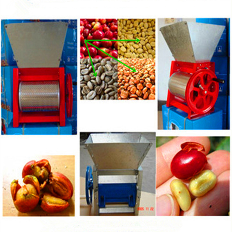 Small coffee pulper huller machine manual cocoa bean shelling pulping extractor  ZF