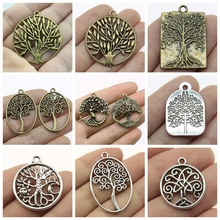 Mix Charms Tree Of Life Pendant For Jewelry Making Diy Craft Supplies Charm Accessories Findings