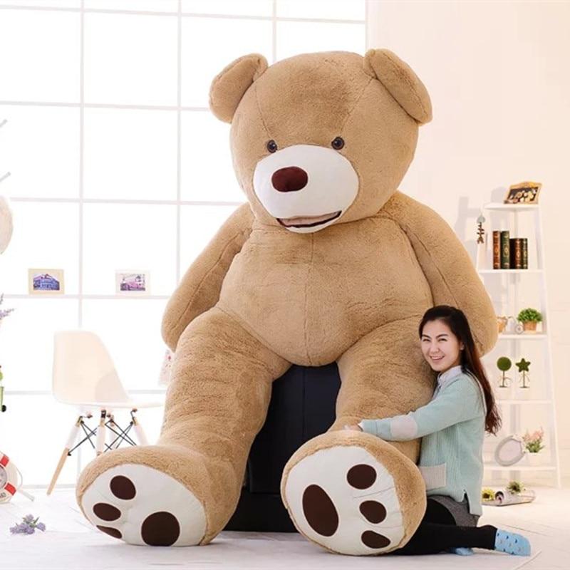 100-260cm Cheap Unstuffed America Giant Teddy Bear Plush Toy Soft Teddy Bear Skin Birthday Valentine's Gifts For Girl Kid's Toy