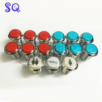 15pcs LED Light Illuminated Full Colors Push Button With Micro Switch 8 Liner Cherry Master Arcade DIY kits Parts JAMMA MAME