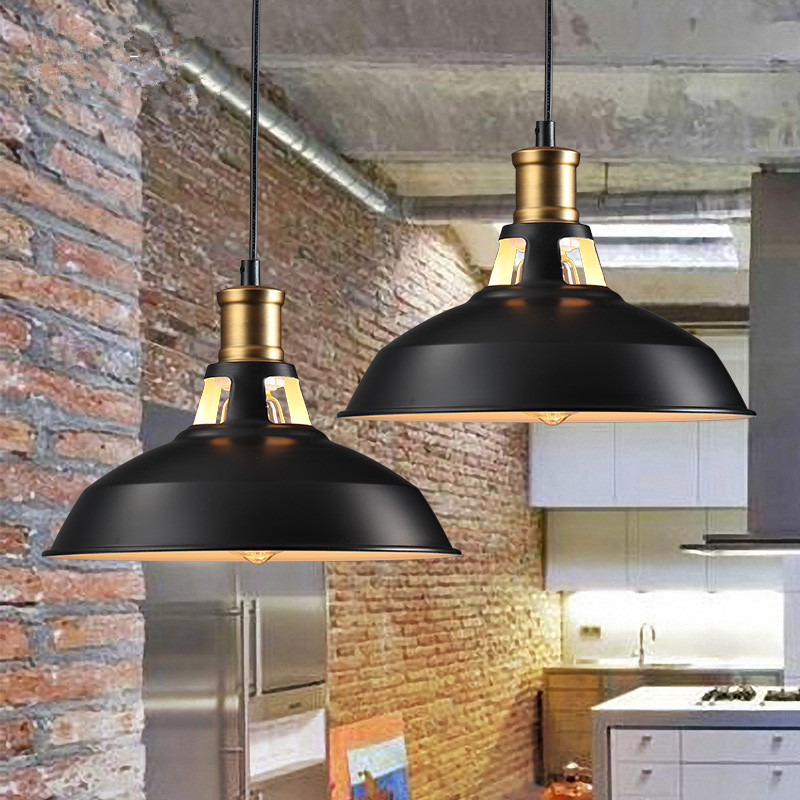 pendant light coffee bar lighting vintage lampshade Pendant Lights Robert Dudley Best Iron Lampshade Bedroom Black Pendant Lamp image