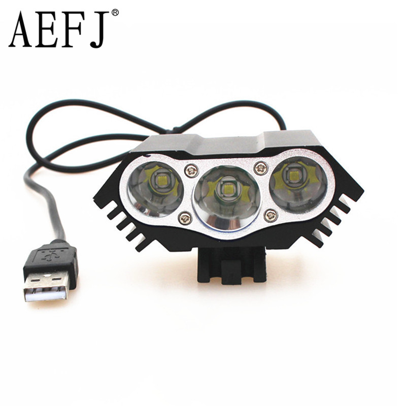 8000lm LED 3* XM-L T6 LED 5V Front Bicycle Cycling Lamp Bike light lamp USB 4 Mode Flashlight torch headlight bicycle light waterproof multi function 2 t6 front light usb charging bicycle lamp bike headlight light flashlight torch