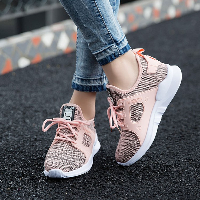 Running Shoes Women Sneakers Athletic Trainers Exercise Runner Lady Pink Zapatillas Deportivas Trainers Multisport Gym Fitness