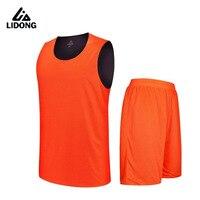 2017 Kids Boys Reversible Basketball Jersey Set Uniforms Kits Sports Clothes Double Sided Basketball Jerseys Suit