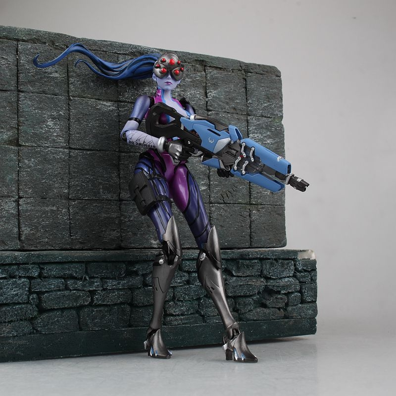17CM OW anime figure Widowmaker action figure movable collectible model toys for boys all characters tracer reaper widowmaker action figure ow game keychain pendant key accessories ltx1
