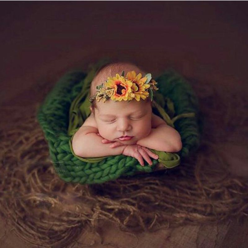 High Quality Newborn Jute Backdrop Blanket Baby Photography Prop Chunky Burlap Layer Net
