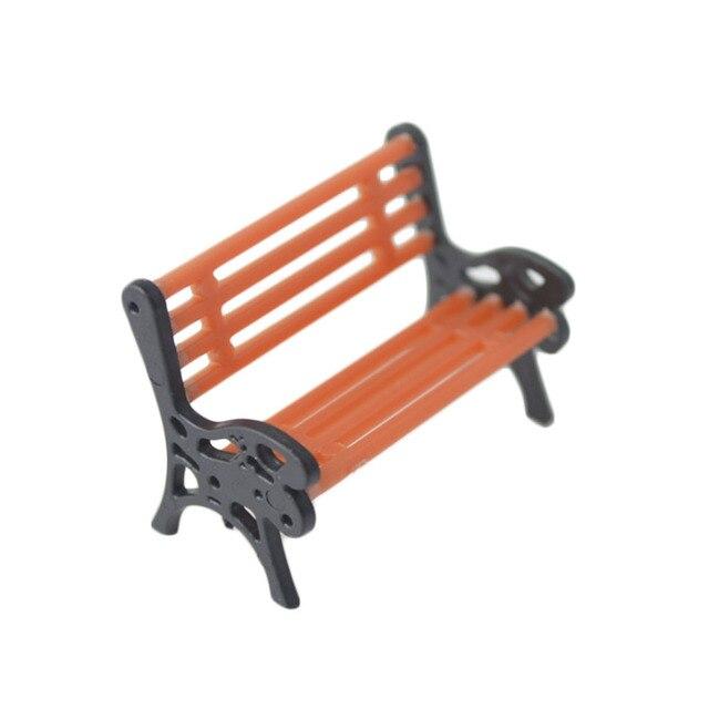 10PCS/LOT 1:50  HO Scale Park Garden Bench Model Landscape Scenery abs plastic model chairs