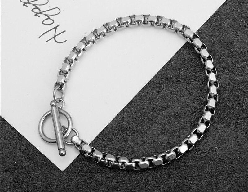 Stainless steel bracelet/couple/women/bileklik/femmeStainless Steel Bracelet Bangle pulsera hombre for women mens bracelets 19 3