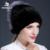 2016 novo inverno das mulheres de pele de raposa chapéu de pele de vison com siliver cor preta de pele de vison