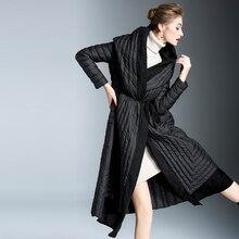 Women Down Coat Winter Jacket 90% Duck 2018 Warm Parka Female hooded white duck Hot FR8001