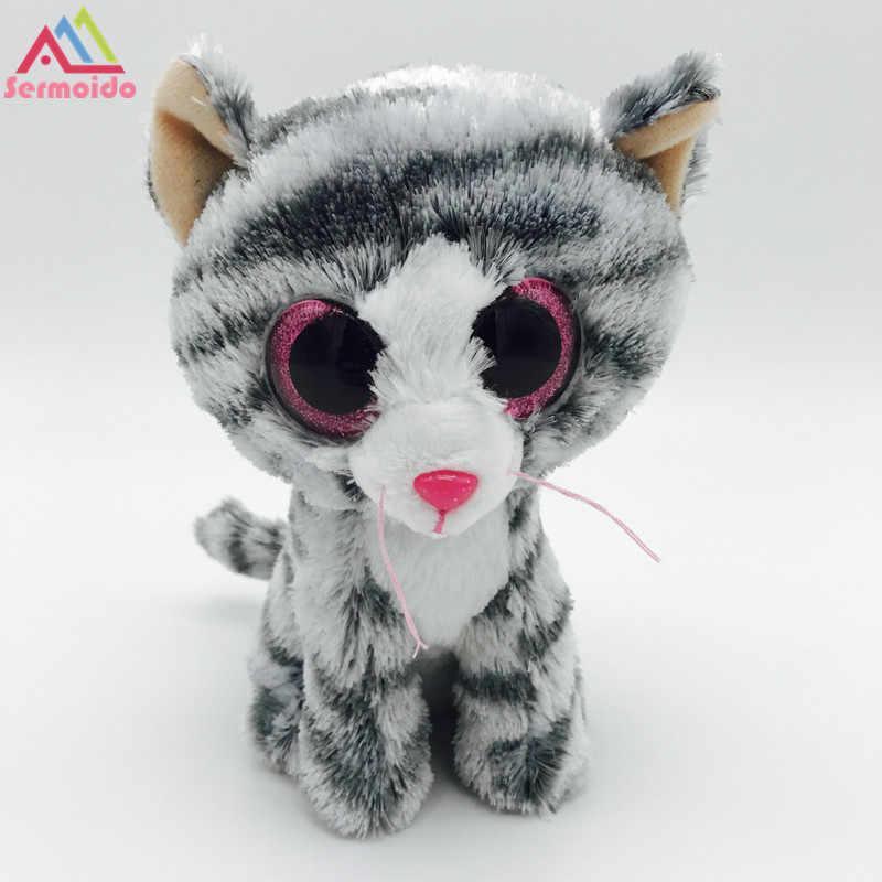 fb7d5b50fa57a Detail Feedback Questions about sermoido TY 6'' Kiki Grey Cat Plush ...