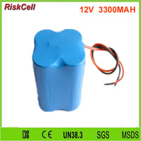 10pcs/lot 12V 3300mAh LiFePO4 Battery Packs for LED Lighting with Cylindrical 26650 cells type