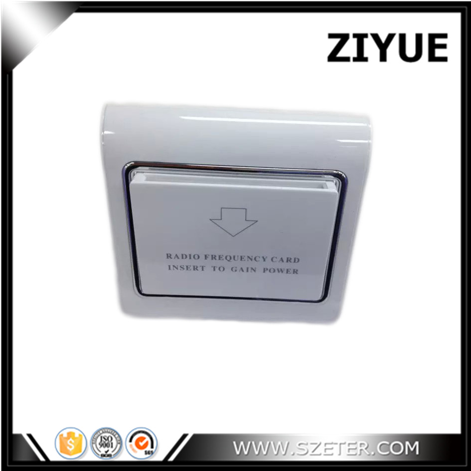 Access Control Accessories Hiread Brand Insert Hotel Room Card Key Energy Saving Round Sliver Switch With 125khz T57 T5567 Em4305 Rfid Card